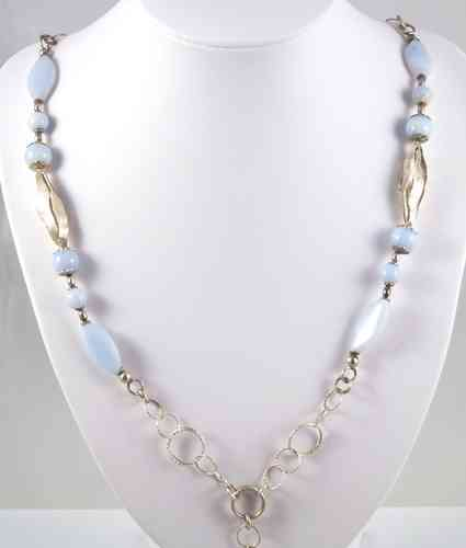 Chalcedony silver long